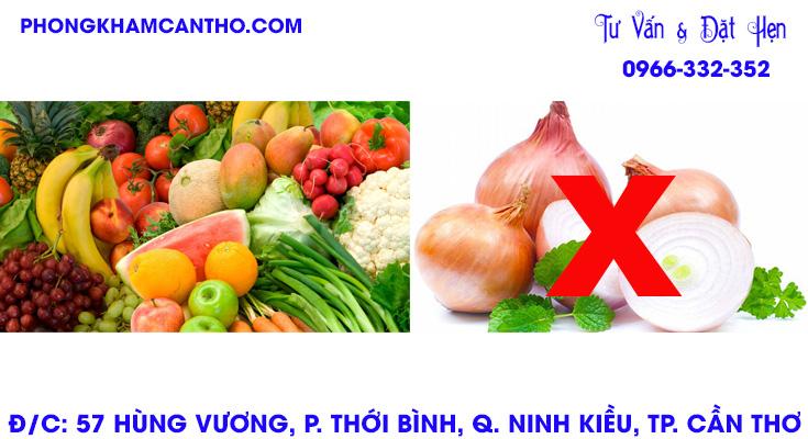 những thực phẩm nên và không nên ăn khi viêm bao quy đầu